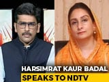 "Video : ""I Failed To Convince My Government"", Harsimrat Badal On Farm Bills"