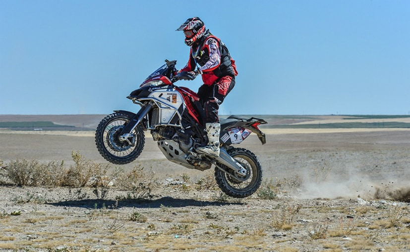 Andrea Rossi piloted the Ducati Multistrada 1260 Enduro to first place in twin-cylinder category