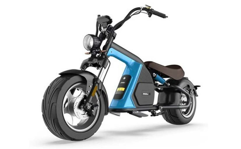 The EMoS WYLD is a chopper styled electric bike with a maximum speed of 50 kmph