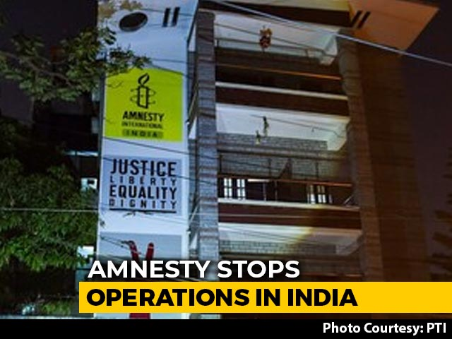 "Video : Amnesty Halts India Operations, Alleges Government ""Witch-Hunt"""
