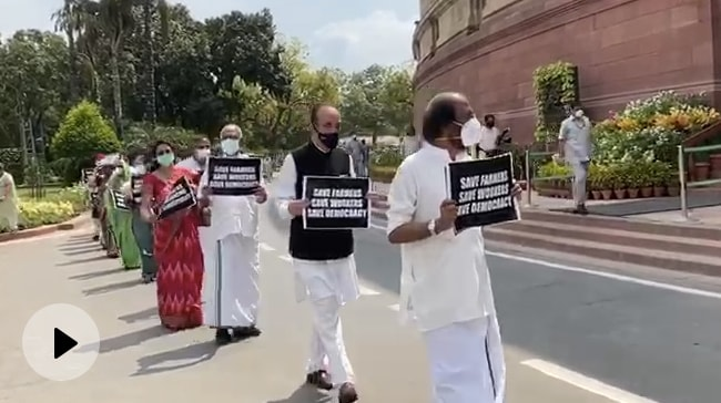 Video | Opposition To Meet President At 5 PM On Farm Bills Amid Parliament Boycott