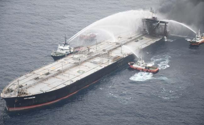 Sri Lanka Navy Plugs Fuel Leak On Fire-Stricken Tanker