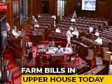 Video : Amid Protests, Big Test For Farm Bills In Rajya Sabha Today