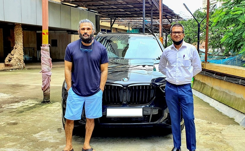 Suniel Shetty took the delivery of his new BMW X5 SUV earlier this week