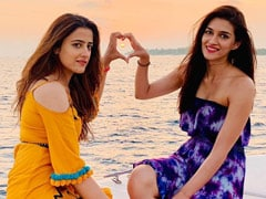 "Kriti And Nupur Sanon's ""Home For The Next Few Days"" Looks Like This"
