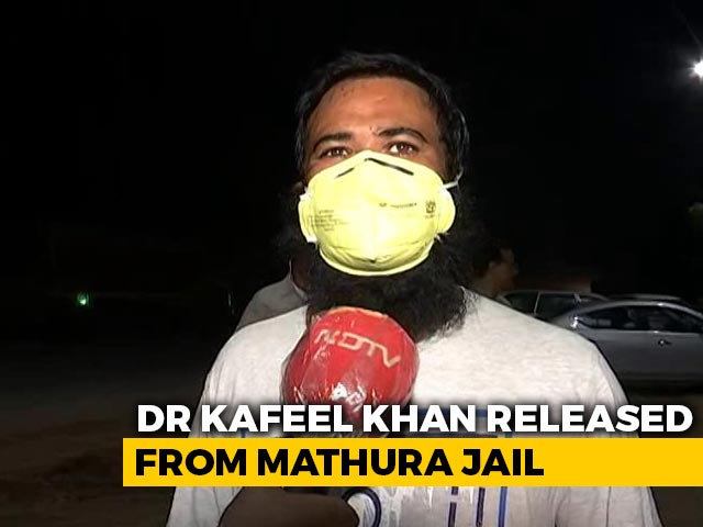 Video : UP Doctor Kafeel Khan, Detained Under NSA, Released From Jail At Midnight