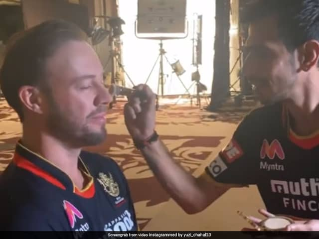 """""""Wanted Me To Do His Touch Up"""": Yuzvendra Chahal Shares Hilarious Video With AB De Villiers. Watch"""