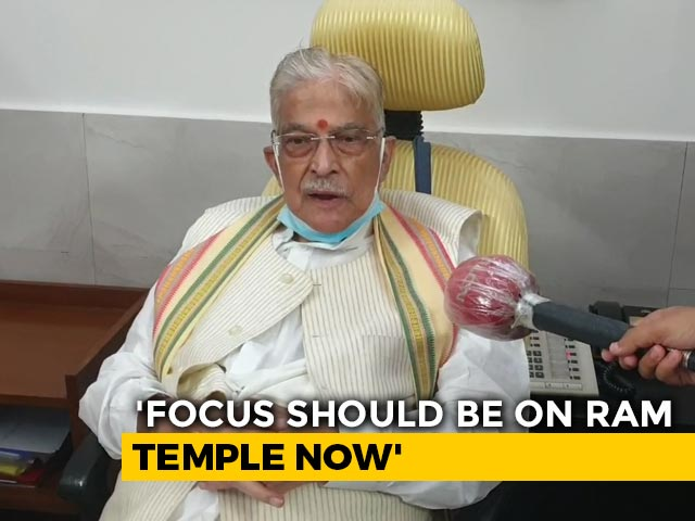"Video : ""Verdict Proves That There Was No Conspiracy"": Murli Manohar Joshi On Babri Verdict"