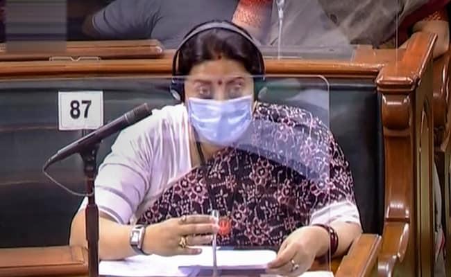 On Lok Sabha Speaker's Request, Smriti Irani Tables 'Diet Chart For Pregnant Women'