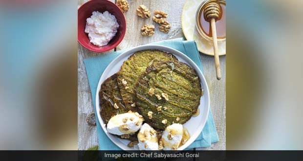 Spinach Pancakes With Oats And Walnuts