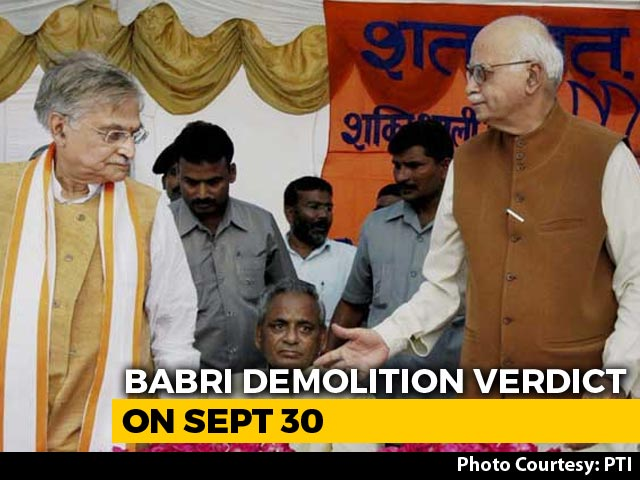 Video : Babri Verdict On Sept 30, LK Advani, Other Accused Told To Be Present