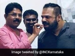 Congress Shares Photos Of Karnataka Minister With Drugs Case Accused