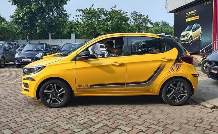 The Tata Tiago Soccer Edition appears to be just an optional pack, offered with exterior decals