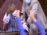 Video : Opposition Rushes To Well Of House In Rajya Sabha, Tries To Tear Up Farm Bills