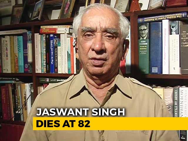"Video : Ex-Union Minister Jaswant Singh Dies At 82. ""Saddened By Demise,"" Says PM"