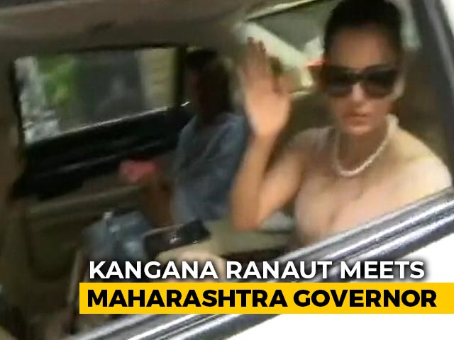 Video : Kangana Ranaut Meets Governor Amid Row With Maharashtra Leaders