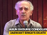 "Video : ""Responsible For Many Of AB Vajpayee's Ideas"": Arun Shourie Condoles Jaswant Singh's Death"