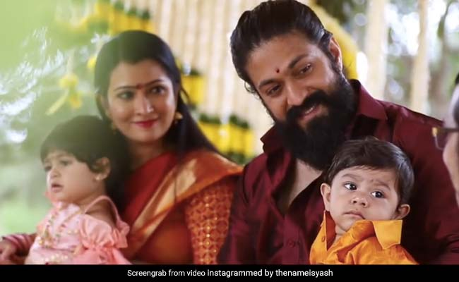 Actor Yash And Radhika Pandit Name Their Son Yatharv, Share Glimpses Of Ceremony