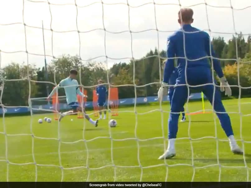 Watch: Kai Havertz Shows Goalscoring Abilities In First Chelsea Training Session