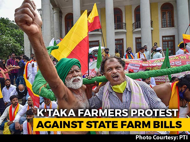 Video : Karnataka Farmers Join Stir Against New Laws, Protests In Bengaluru Too