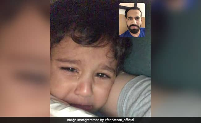 IPL 2020 Irfan Pathan shares adorable picture with son while being away from family