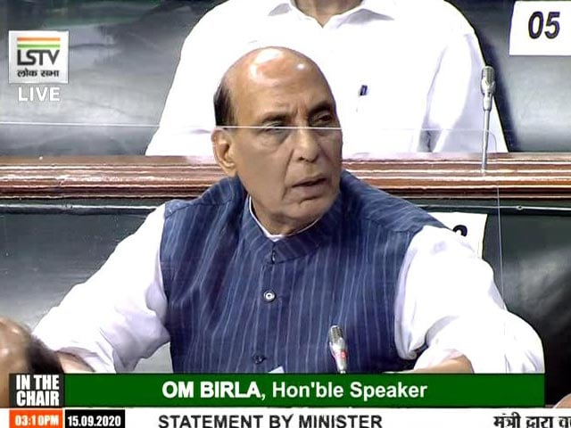 Video : Transgression Attempts By China In Ladakh Foiled: Rajnath Singh Tells Parliament