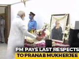 Video : State Funeral For Pranab Mukherjee Today; PM Modi Pays Last Respects