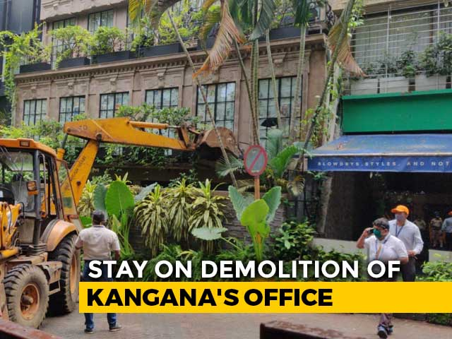 Video : Win For Kangana Ranaut In Battle With Sena, Court Halts Demolition Work