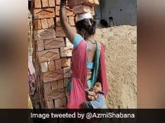In Shabana Azmi's Pic, A Mother Carries Her Baby While Balancing Bricks On Head
