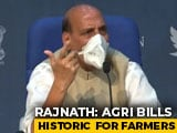 "Video : Rajnath Singh's ""<i>Main Bhi Kisan</i>"" Retort To Attacks On Farm Bills"