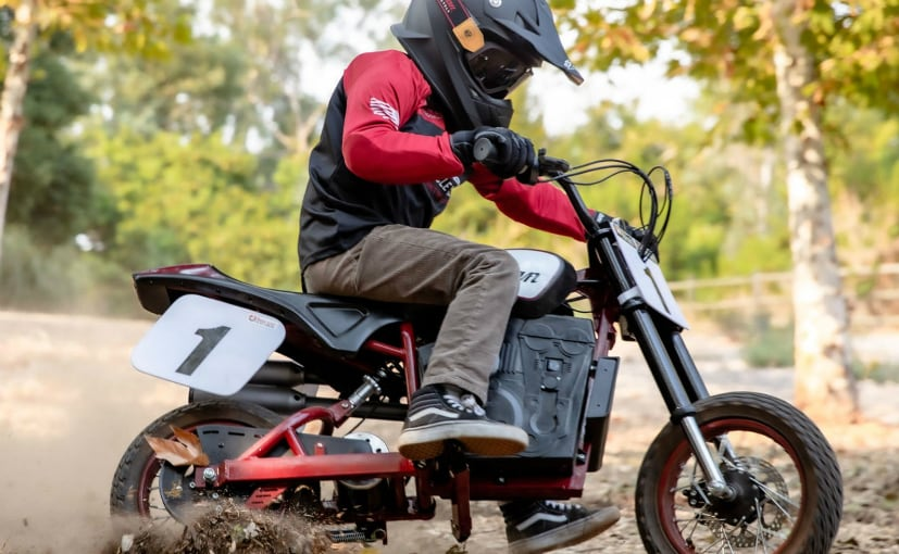 The Indian eFTR Jr is an electric off-road bike designed for children