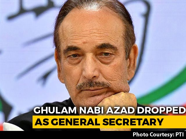 Video: In Congress Shake-Up After Letter Bomb, Ghulam Nabi Azad Loses Post