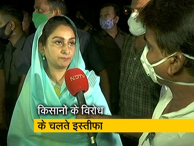 Video : मैं पंजाब के किसानों की बहन, बेटी हूं, इसलिए दिया इस्तीफा : हरसिमरत कौर बादल
