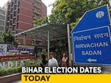 Video : Bihar Poll Dates To Be Announced By Election Commission At 12:30 PM