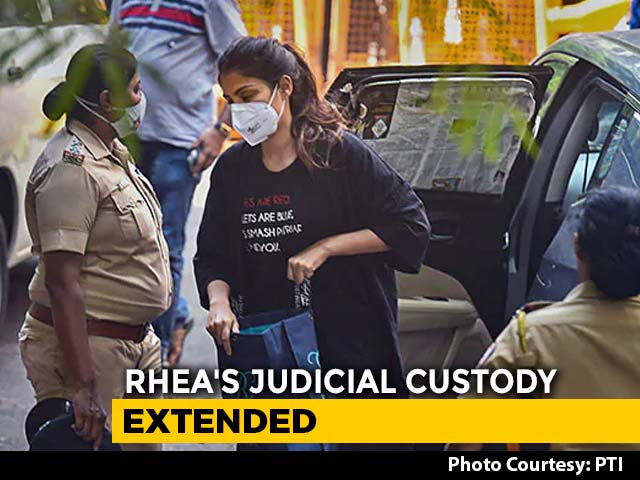 Video : Rhea Chakraborty To Be In Jail Till October 6 In Drugs Case