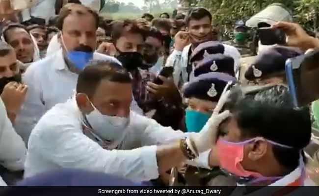 Congress Workers Blacken Officer's Face In Madhya Pradesh, Case Filed