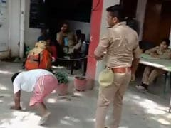 UP Cop Drags Differently-Abled Man, Pushes Him To Ground; Suspended