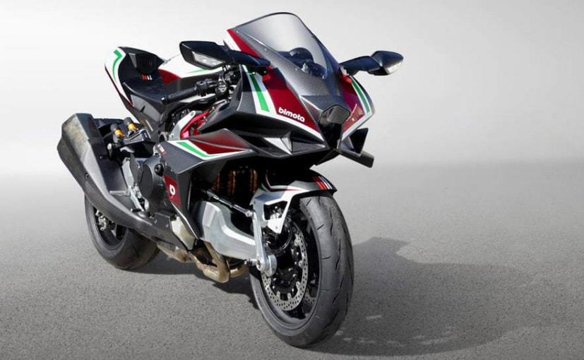 The Bimota Tesi H2 will share the 998 cc, supercharged inline four engine of the Kawasaki Ninja H2