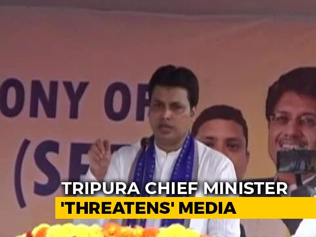 "Video : ""Won't Forgive"": Tripura Chief Minister vs Section Of Media Over Covid"
