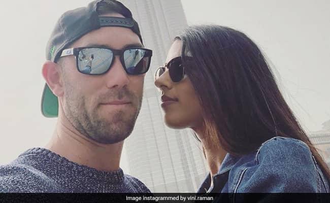 KXIP Vs DC Glenn Maxwell fiancee Vini Raman shares photo and wish KXIP for IPL 2020