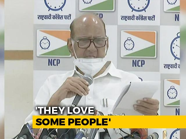 """Video : """"They (Government) Love Some People"""": Sharad Pawar Says Served Tax Notice"""