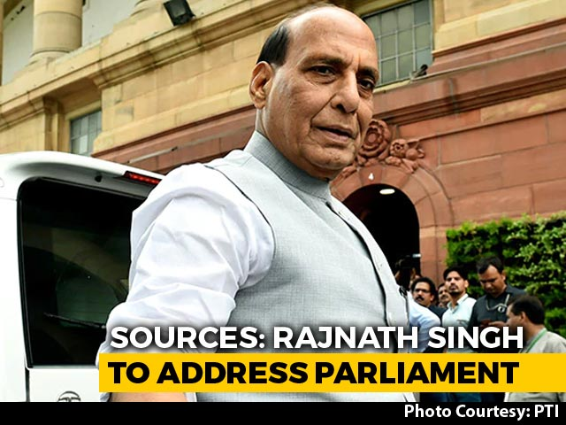 Video : Rajnath Singh To Address Parliament Today On China Row