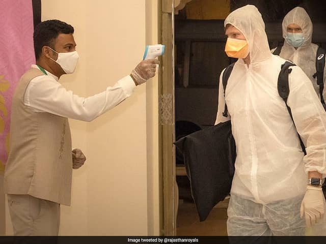 """""""GOAT"""": Steve Smith Gets Iconic Welcome At RR For IPL 2020"""