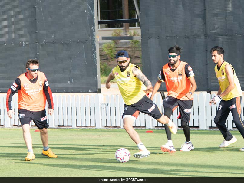 """""""Heard Messi Was Looking For New Teammates"""": RCB Share Picture Of Virat Kohli Playing Football"""