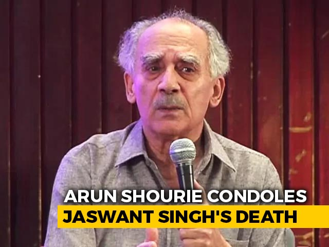 """Video : """"Responsible For Many Of AB Vajpayee's Ideas"""": Arun Shourie Condoles Jaswant Singh's Death"""