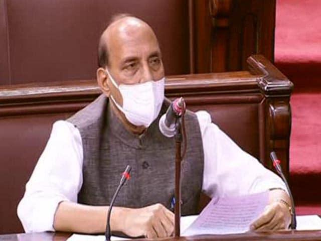 "Video : ""India, China's Perception Of LAC Different,"" Says Rajnath Singh In Rajya Sabha"