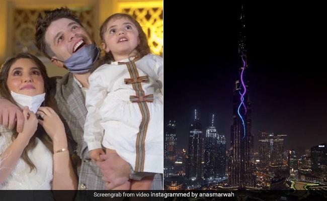 दुबई के कपल ने बुर्ज खलीफा में रखा जेंडर रिवील इवेंट, तेजी से वायरल हो रहा Video