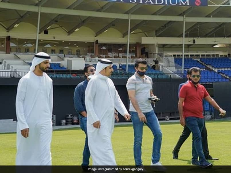 "IPL 2020: BCCI President Sourav Ganguly Reviews Preparations At ""Famous Sharjah Stadium"". See Pics"