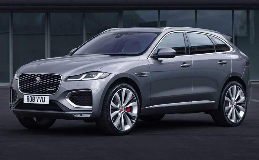 The 2021 Jaguar F-Pace gets new headlights and an updated grille.