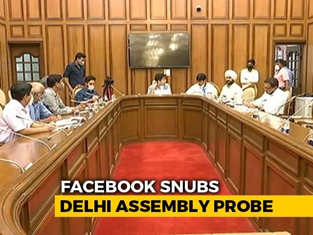 Video : Facebook Snubs Delhi Assembly Panel, To Get Final Warning, Summons